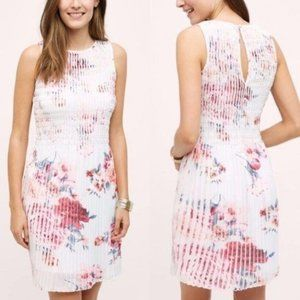 Anthro Smock Tangiers Pleated Floral Rose Dress